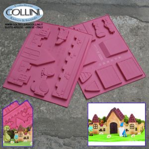 Pavoni - The enchanted castle - Modular silicone cake mold