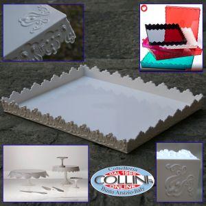 Pavoni - Garcon tray white cm pastry . 39x33x4,5 - Sweetable
