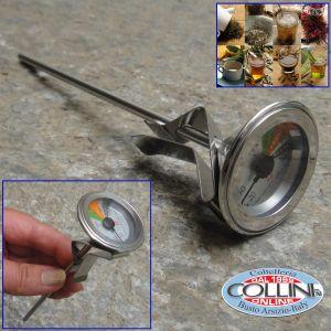 Kuchenprofi - Set lecca-cucchiaio piatto in silicone con termometro