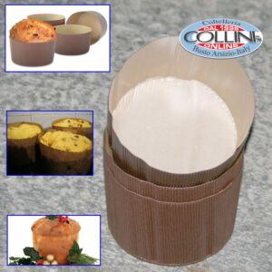 Decora - Forma in carta per cottura canasta/ panettone 5pz. da 1kg
