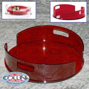Giannini - Plate holder methacrylate - Extragourmet - Red