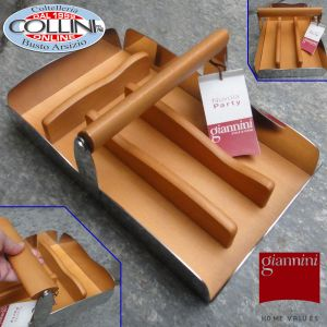 Giannini - Porta posate acciaio e legno di pero - Linea Nuvola (articoli casa)