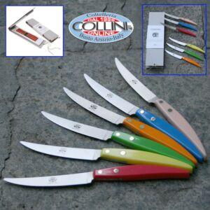 Berti - Set Compendio 6 pezzi manico colorato in policromia - promozione