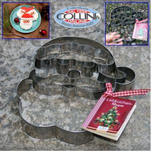 Birkmann - Tagliapasta 3D in acciaio forma Santa Claus
