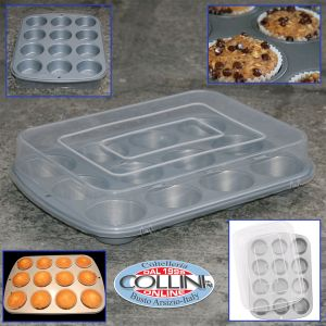 Wilton - Non-stick soleplate for 12 muffins with lid