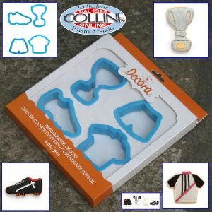 Decora - Set  cookie cutters Football 4 pieces