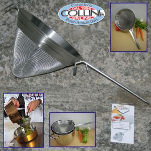 Weis - Reinforced Chinois Strainer With Fine Mesh 8-in