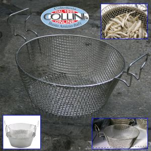 Made in Italy - Cestello per friggitrice cm. 34 in acciaio stagnato