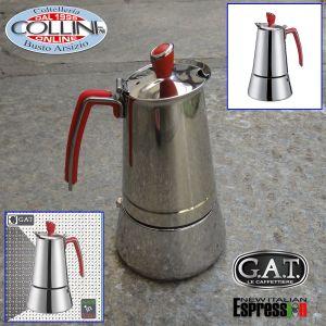 G.A.T. - Futura Induction Stove Top Italian Espresso Coffee Make - 2 cups