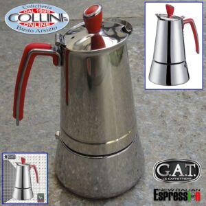 G.A.T. - Futura Induction Stove Top Italian Espresso Coffee Make - 6 cups
