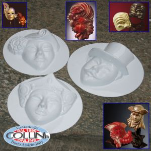 Made in Italy - Plastic molds for chocolate masks - Carnival