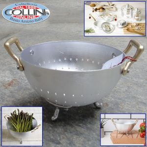 Made in Italy -  Bread Bin Aluminum Colander Two Handles 14cm Table Service