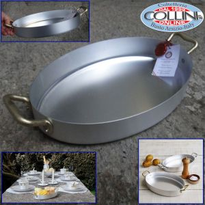 Made in Italy - Oval Aluminum Gratin Two Handles 26cm