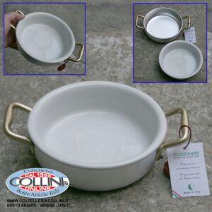 Made in Italy - Tegame 2 maniglie in alluminio con ciotola ceramica cm. 14 (articoli casa)