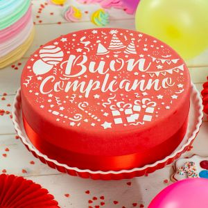 Decora - Happy birthday cake stencil