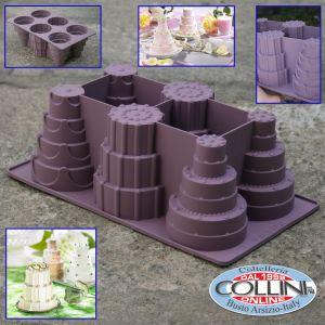 Lurch - Silicone mold for 6 mini wedding cake