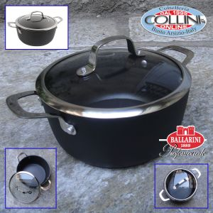Ballarini - Pot 2 handles with lid cm. 24 - induction - ALBA