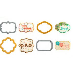 Decora - Cookie Cutters in the shape of  clouds and frames - 4 pieces