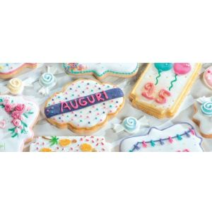 Decora - Cookie Cutters in the shape of  mini clouds and frames - 4 pieces