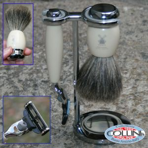 Muhle - Set da barba - 3 pz - color avorio MACH3