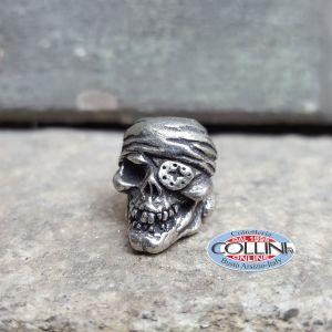Schmuckatelli - Ciondolo Fermafilo - One Eye Jack Skull Bead - Gadget