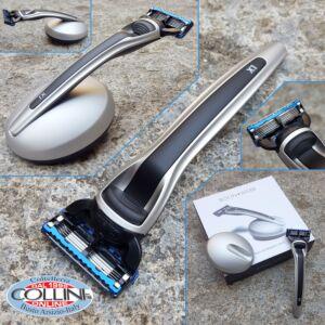 Bolin Webb - X1 - Silver Black & Magnetic Stand - Gillette Fusion - Razor