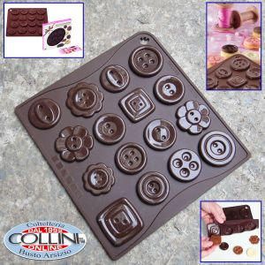Pavoni -  Choco-ice silicone mold for chocolates or button-shaped