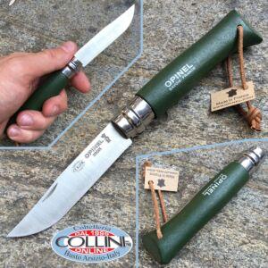 Opinel - n.8 con cordino in cuoio - lama inox - coltello