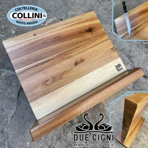 Due Cigni - block 5 pieces magnetized in acacia wood - knife accessory