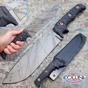 Wander Tactical - Dimorphodon - Black Raw Finish & Brown Micarta
