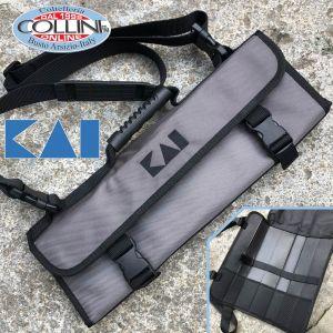 Kai Japan - Shun borsa professionale portacoltelli per 3 coltelli grandi e 2 piccoli DM-0781