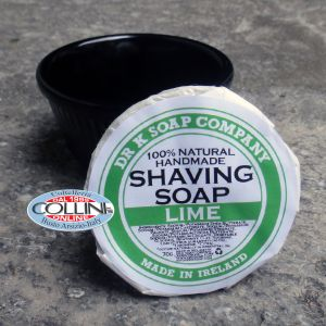 Dr K Soap Company - shaving soap with ceramic bowl - lime - Made in Ireland