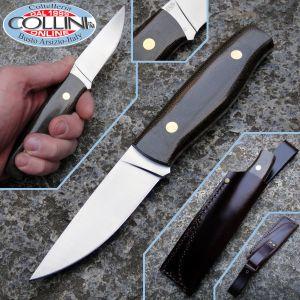EnZo - Trapper 95 - O1 - Black Canvas Micarta - 2018 coltello