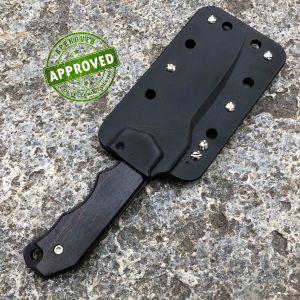 Fantoni - Hide Fixed knife Ebony Wood - Premium Limited Edition - COLLEZIONE PRIVATA