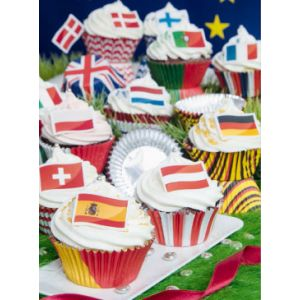 Stadter - Set paper muffin cups Flag - Italy