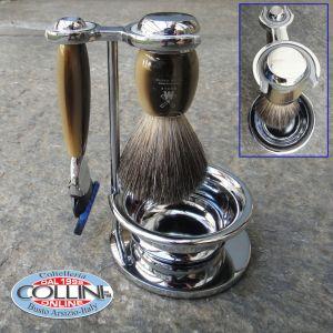 Muhle - Set da barba rasoio con ciotola - color nero MACH3
