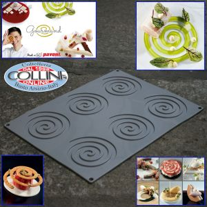 Pavoni - Silicone Spiral Decoration Mold, 6 cavities