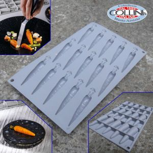Pavoni - Silicone mould CARROT - 15 indents