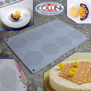 Pavoni - HONEYCOMB Silicone Mould  by  P. Griffa - 8 Portions
