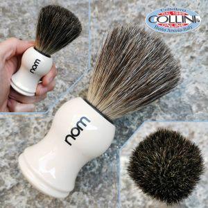 Muhle - HJM - Shaving brush, pure badger, handle material plastic ivory 181P23