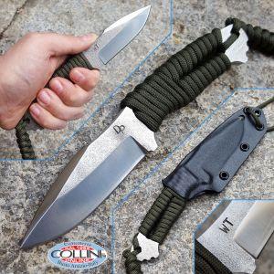Wander Tactical - Raptor - Satin CoS SanMai & Green Paracord - custom knife