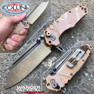 Wander Tactical - Mistral TI Folder - One of a Kind Desert Micarta - knife