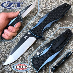 Zero Tolerance - Rick Hinderer - Blue Titanium Flipper - ZT0393 - knife