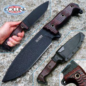 Busse Combat - Battle Grade Anniversary Steel Heart BG ASH1- Red and Black G10 - knife