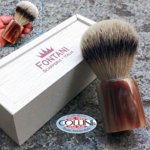 Fontani Scarperia - silvertip badger brush and ox horn - PSTCO - shaving brush