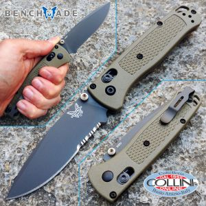 Benchmade - Bugout Axis - Grey Coated Serrated - 535SGRY-1 - knife