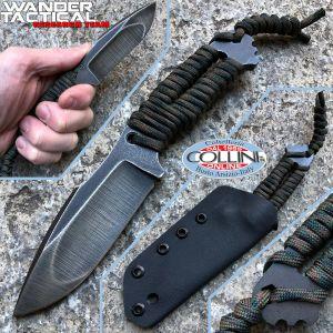 Wander Tactical - Raptor Compound Raw Finish - woodland Paracord - custom knife