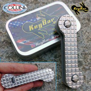 Key-Bar - Aluminum Key Ring with titanium clip - AKB