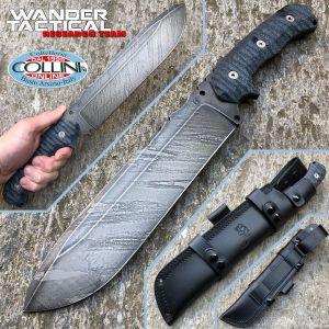 Wander Tactical - Godfather knife - Black Blood & Black Micarta - knife