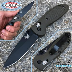 Benchmade - Pardue Mini Griptilian - Drop Black - OD Green - 556BKOD - Knife